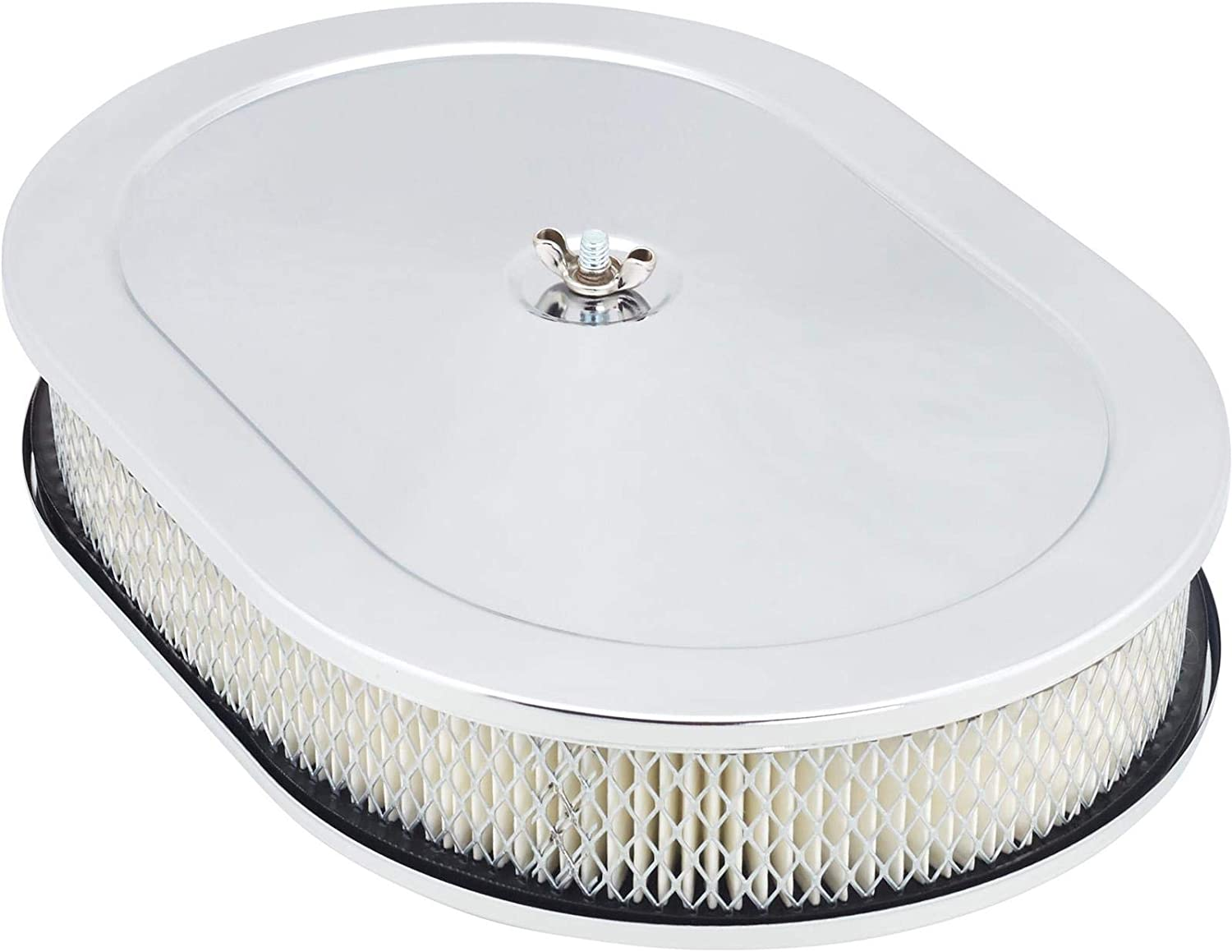 Chrome NEW before selling ☆ Air Cleaner 12 Inch Super intense SALE Oval