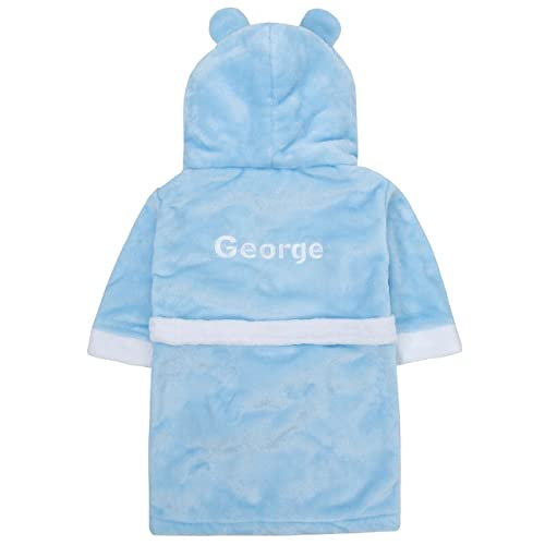 7528a62aa Boys Personalised Embroidered Doggy Gown House Coat Bath robe, soo cute!