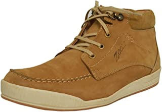 Zoom Casual Shoes for Men Genuine Leather Shoes Online 1047-Tan Colour