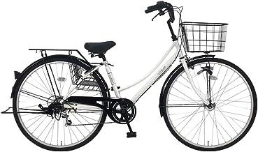C.Dream(シードリーム) ココWオートライト CW76-H 27インチ自転車 シティサイクル ホワイト 6段変速 100%組立済み発送