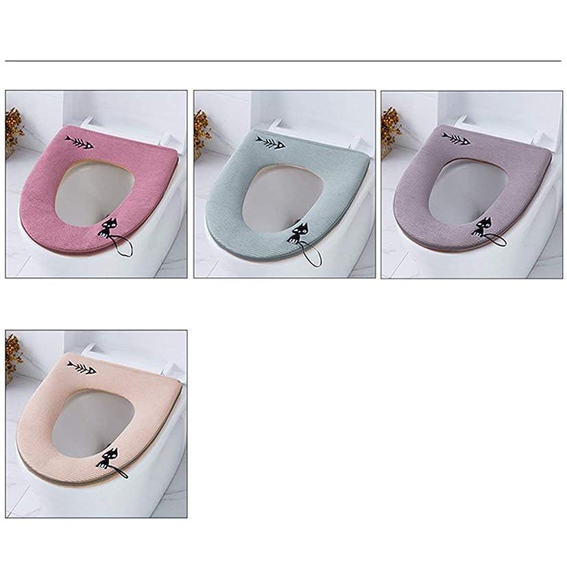コードピーク国際Swiftgood ジッパーのかわいい子猫のトイレのRingrestroomと防水抗菌レザー