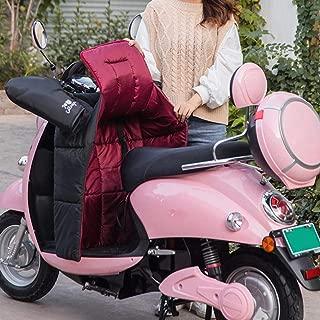universal scooter cubierta de la pierna Algod/ón engrosado impermeable prueba de viento protecci/ón piernas calientes Manos en invierno Cubre Piernas para Moto con manguito guantes del manillar
