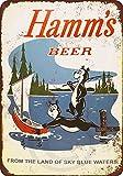 Custom Kraze 1956 Hamms Beer Bears Fishing Reproduction Metal Sign 8 x 12