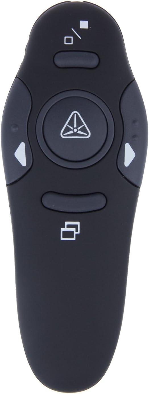 Wireless Presenter, FORNORM RF 2.4GHz Remote Presentation USB Control PowerPoint PPT Clicker with Red Laser Pointer (Balck)