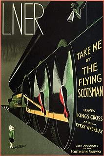 Flying Scotsman LNER Railway Edinburgh Scotland London England Vintage Travel Laminated Dry Erase Sign Poster 12x18