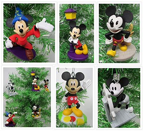 Mickey Mouse Iconic Christmas Ornament Set Featuring Classic Mickey Ornaments - Unique Shatterproof Design