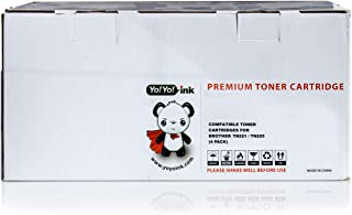 YoYoInk Compatible Printer Toner Cartridge Replacement for Brother TN221 TN225 B/C/M/Y (1 Black, 1 Cyan, 1 Magenta, 1 Yellow; 4 Pack)
