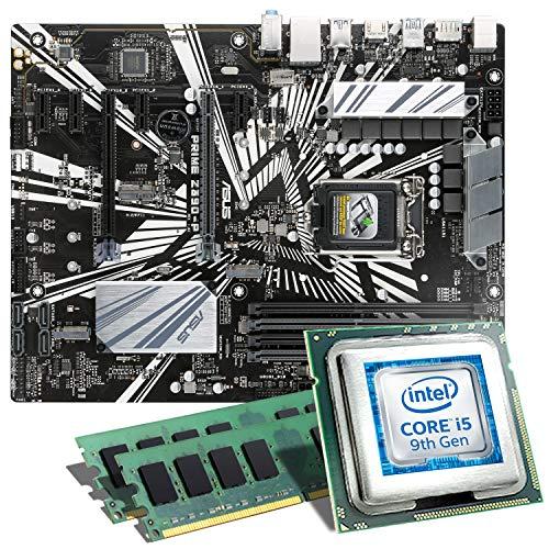 Intel Core i5-9600K / ASUS PRIME Z390-P Mainboard Bundle / 16GB   CSL PC Aufrüstkit   Intel Core i5-9600K 6x 3700 MHz, 16GB DDR4-RAM, Intel UHD Graphics 630, GigLAN, 7.1 Sound, USB 3.1   PC Tuning Kit