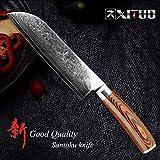 Mrjg Arcos 1 PC Damasco Cuchillo de Cocina Japonesa VG10 Alto Contenido de Carbono del Acero Inoxidable de Chef Profesional Cuchillo de deshuesar rebanar Utilidad Cleaver Chino