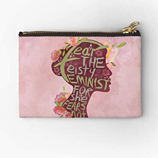 Feisty Feminist Pouch Zipper Zipper Accessories Pencil Cosmetic Makeup Office Supplies and Travel Pouch