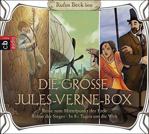 Die große Jules-Verne-Box: Robur der Sieger, Reise zum Mittelpunkt der Erde, In 80 Tagen um die Welt (Hörbuch-Klassiker für die ganze Familie, Band 11)