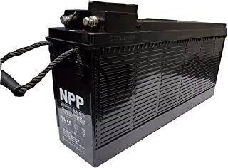 NPP FT12-105Ah 12V 105Ah Front Access AGM Deep Cycle Rechargeable Battery with Button Style Terminals,Replace CSB TPL121000T,Norhstar NSB100FT