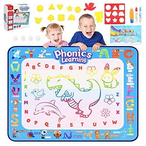 Dreamingbox Jouet Fille 2 3 4 5 6 7 8 Ans,Dessin Enfant 2-8 Ans Cadeau Fille 2-8 Ans Jouet Enfant 2-8 Ans Educatif Tapis de Jeux Enfant 2 3 4 5 6 7 Ans Jouet Garcon 2-8 Ans Tapis Aquadoodle