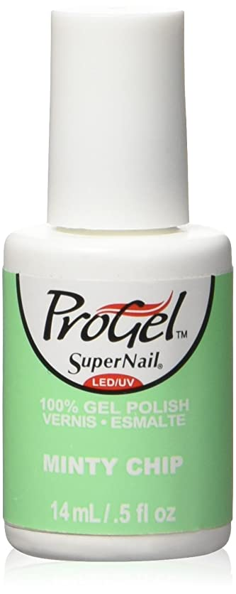 昼食電話するラボSuperNail ProGel Gel Polish - Minty Chip - 0.5oz / 14ml