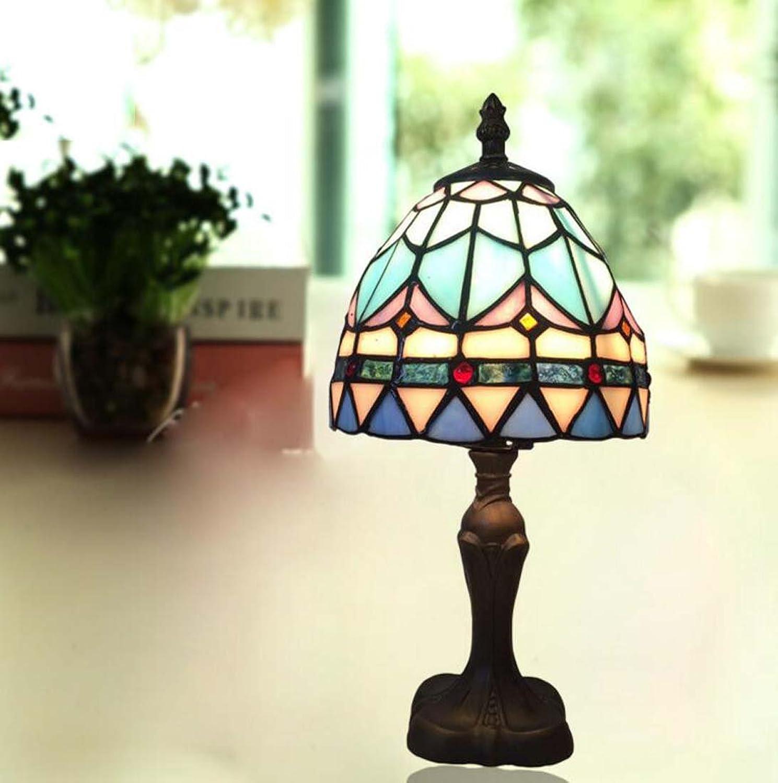 Mediterrane Tischlampe, Tischlampe, Tischlampe, Kreative Persönlichkeit Blaue Glas Leselampe, Hotelzimmer Leselampe 220 V (V) B07FYCSYHD | Abgabepreis  c504a9