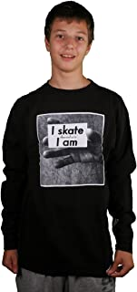 Diamond Supply Co I Skate Therefore I Am Black Long Sleeve Skating Sweatshirt