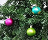 64 Christbaumkugeln 6cm Kugelbox Kunststoff bruchfest // Dekokugeln Weihnachtskugeln Baumkugeln Baumschmuck Set Inge-Glas Plastik PVC 60mm (Mille-Fiori) - 4