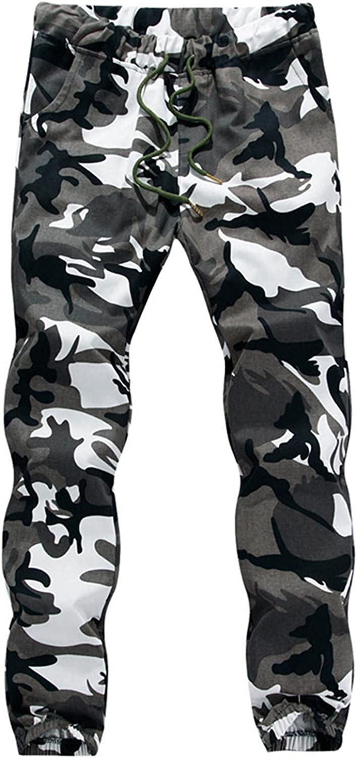 Beshion Mens Jogger Sweatpants Slim Fit Camo Stretch Track Pants,Gym Workout Tapered Pants for Jogging Training Running