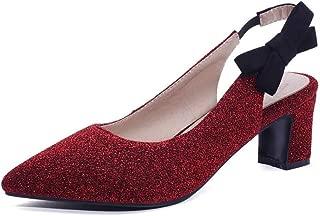 BalaMasa Womens ASL06590 Pu Block Heels