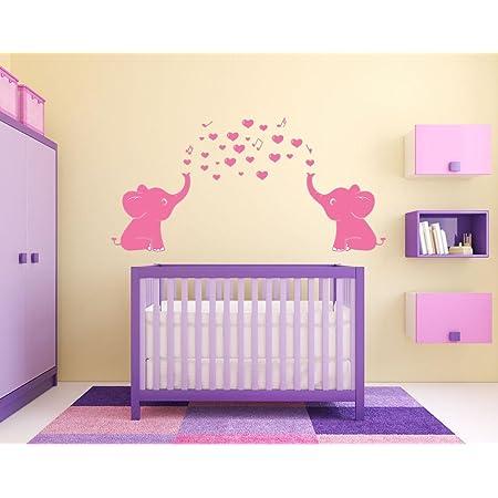 Childrens Room Decal Girls Room Decor Brown Green Wall Art Girly Wall Sticker Monkey Wall Art C022 D18 Elephant Stickers