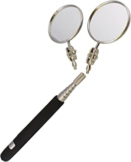 ABN Auto Mechanic Telescoping Automotive Vehicle Inspection Mirror 2-Pack, 2-1/4in Round Mirrors, 6in to 30in Handle