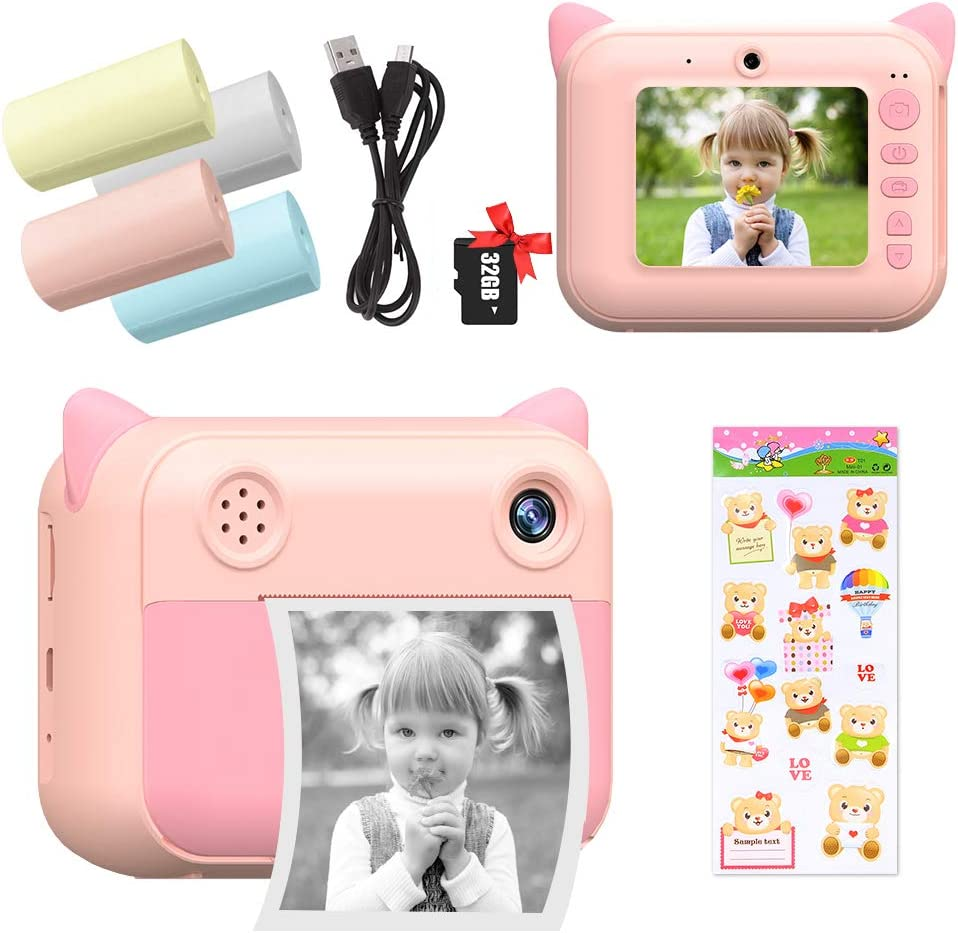 RVEE Kids Print Instant Camera Over item handling with Paper Films 100% quality warranty! - Dual Lens 1080