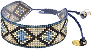 Beaded Bracelet with Adjustable Closure