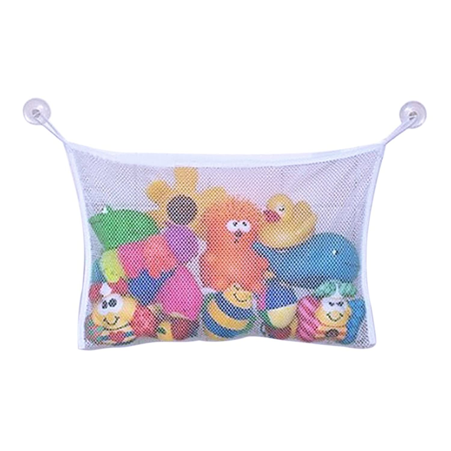 Evelin LEE Baby Bath Time Toy Organizer Mesh Net Hanging Bag With Hooks Holder by Evelin LEE