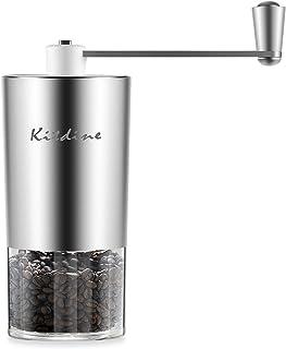 2019新型 Kitdine 手挽きコーヒーミル 手動 コーヒー グラインダー セラミック 粗細調整可能 アウトドア スプーン・ブラシ付き 人気コーヒー用品 1~2人分
