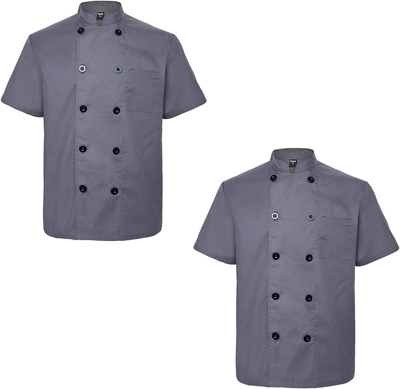TOPTIE 2 Pack Unisex Short Ranking TOP3 Free shipping Chef Jacket Sleeve Coat