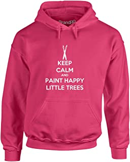 Brand88 - Keep Calm and Paint Happy Little Trees, Hoodie