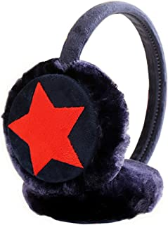 COODIO Kids Girls Winter Warm Faux Plush Cute Five Pointed Star Ear Warmer Earmuffs for Fashion Jewelry