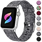 Haveda Compatible for Apple Watch Series 4 Series 5 40mm Band, Apple 5 Watch Bands iwatch Bands 38mm Womens, Cloth Dressy for Apple Watch Series 3/2/1  Fabric Dark Gray+BLACK, Silicone Pink+Black