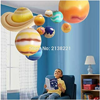 Luxury & Trendy 10 Pieces/Set Solar Galaxy Teaching Model Balloons Charm Simulation Nine Planets in Solar System Children Blow Up Inflatable Toy
