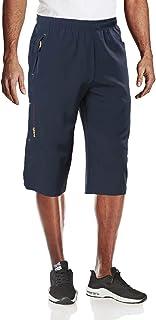 MAGCOMSEN Hiking Shorts Men Quick Dry Capri Shorts Pockets Mens Pant Running Dry Fit Shorts