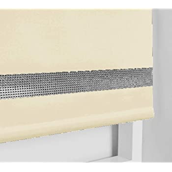 Cappuccino, 90cm 35.43 165cm Drop Easy Fit Square Eyelet Roller Blinds Up To 240cm TRIMMABLE