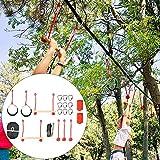 Alomejor Slackline Rope Klettergerüst Kit Outdoor Baum Hängende Hindernisse Linie Zubehör Spielset - 5