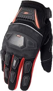 ATV Motocross Dirt Bike Motorcycle Powersports Street Bike Racing Gloves 02 (S, 12 Red/Black)