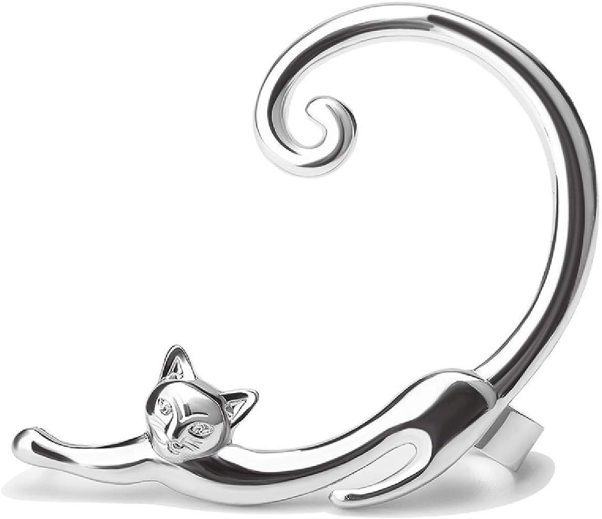 Cute Animal Cat Ear Cuff Earrings Kitty Kitten Clip On Stud Wrap Earrings Jewelry for Women and Girls Party Accessories