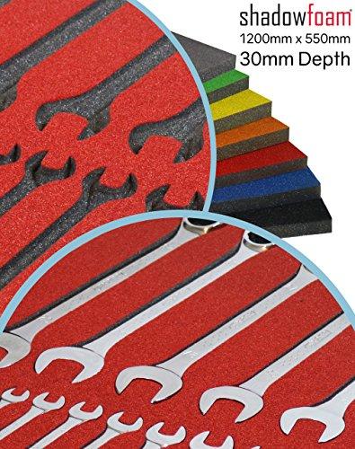 Shadow Foam, rot, Schutz für Werkzeugkoffer, Verpackungsanlagen., rot