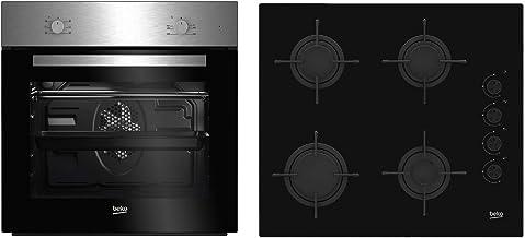 Beko BSE21031CXD - Cocina (Integrado, Negro, Acero inoxidable, Giratorio, Front / Top front, Encimera de gas, Butano)