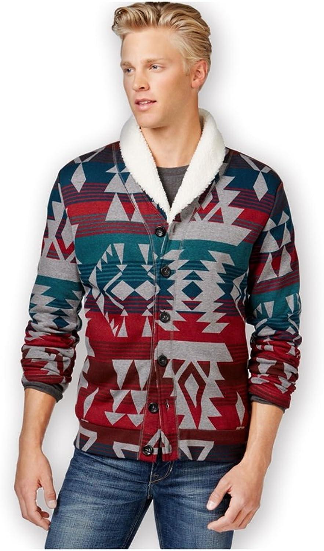 American Rag Mens Log Cabin Shawl Knit Sweater