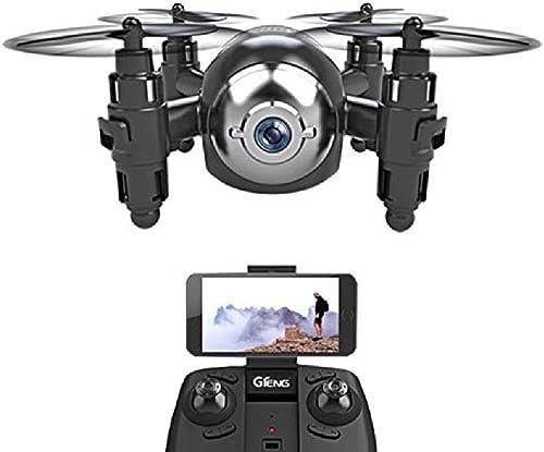 Mengen88 Mini-Drohne, Luftfernsteuerung Flugzeuge vierachsige Flugzeuge One-Button-Start High-Mode-Handy WiFi-Steuerung für Anf er geeignet