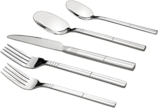 Saedy 30 Piece Flatware, Stainless Steel Silverware Service for 6