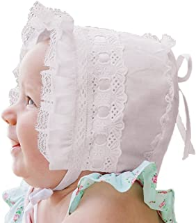 Huggalugs Ribbon and Lace Baby & Toddler Bonnet in 2 Color Choices