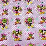 Loopomio Jersey Stoffe Disney Micky Maus Mini Maus Flieder