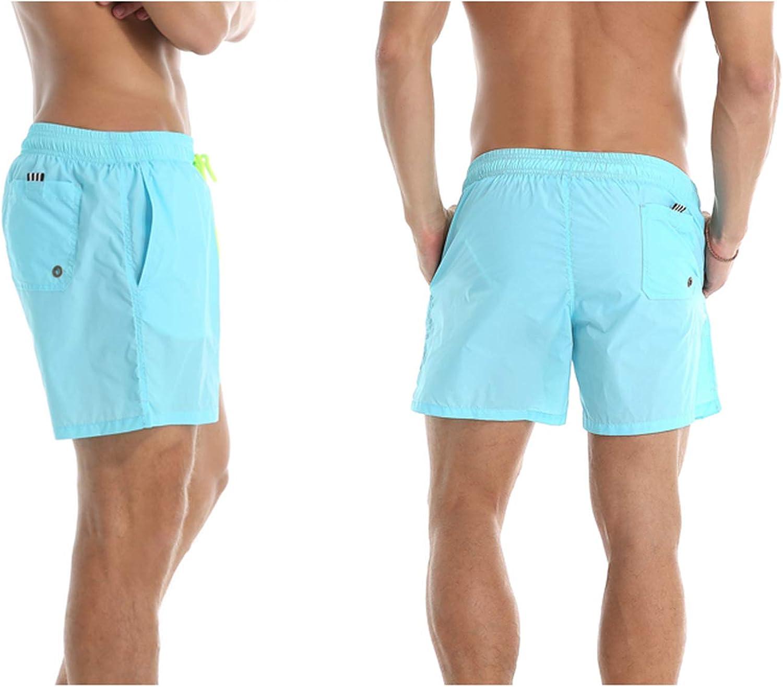 STTLZMC Ba/ñador Hombre Impermeables Deporte Moda Secado R/ápido Pantalones Cortos Playa con cord/ón Ajustable