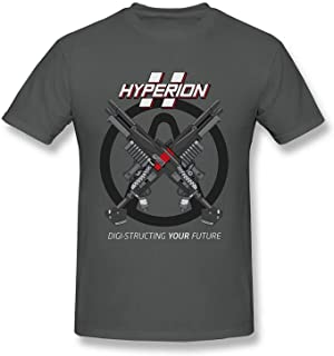 Tatuu Mens Borderlands Hyperion Fashion Design Print Short Sleeve Cotton T Shirts