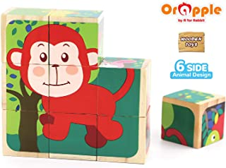 Orapple Puzzle Toys Safari Cube Puzzle for Kids for Boys & Girls of 1.5,2,3,4 Years Old Age(Multicolor)