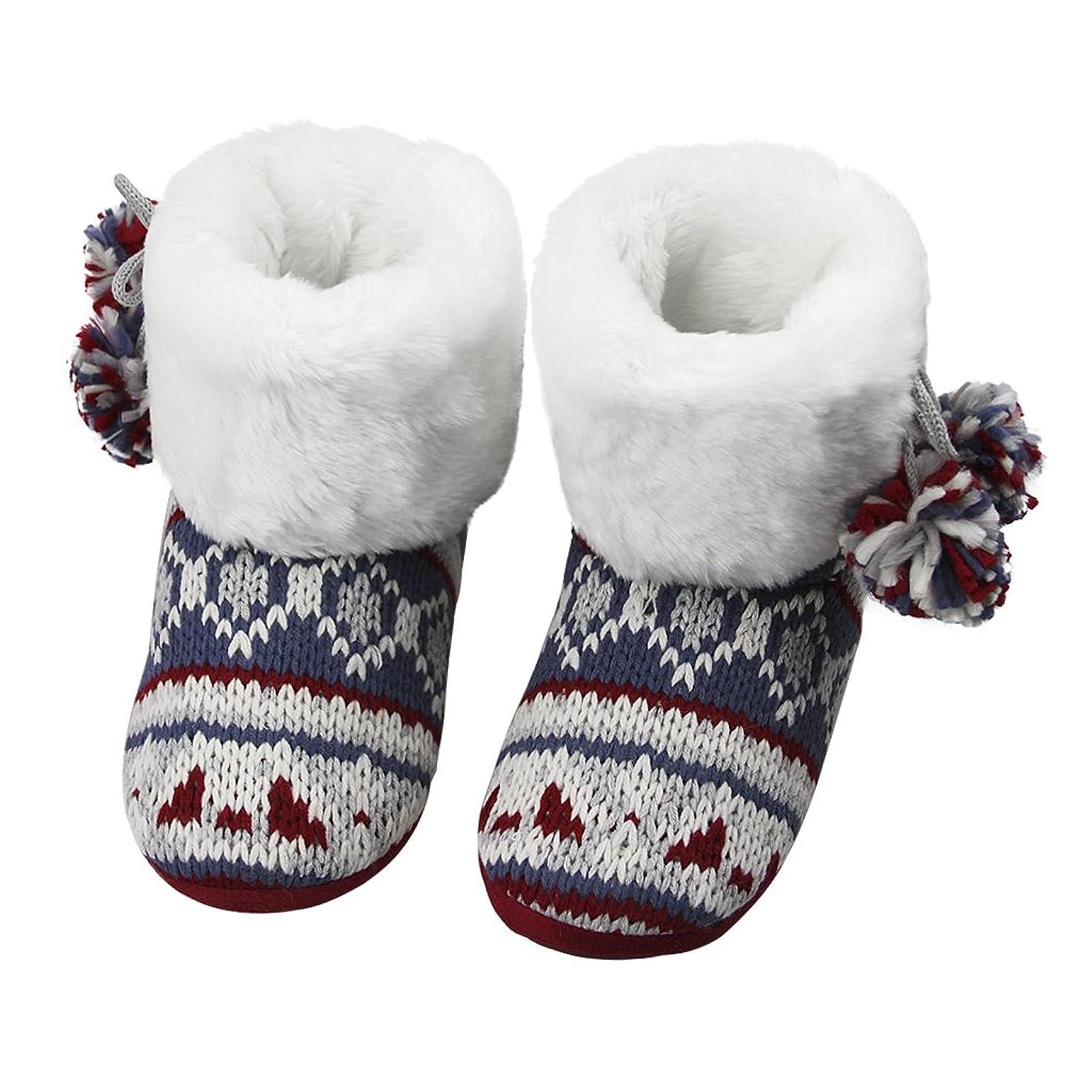 ゲートウェイ一般的にオープナールームシューズ ロングタイプ ルームブーツ 厚型 ボア生地 ふわふわ もこもこ レディーズ 女の子 スリッパ 保温コットン靴 ニット物 クラシック スコットランド風 冬物 おしゃれ 滑り止め 静かな足音 軽量 ファッション小物 おすすめ